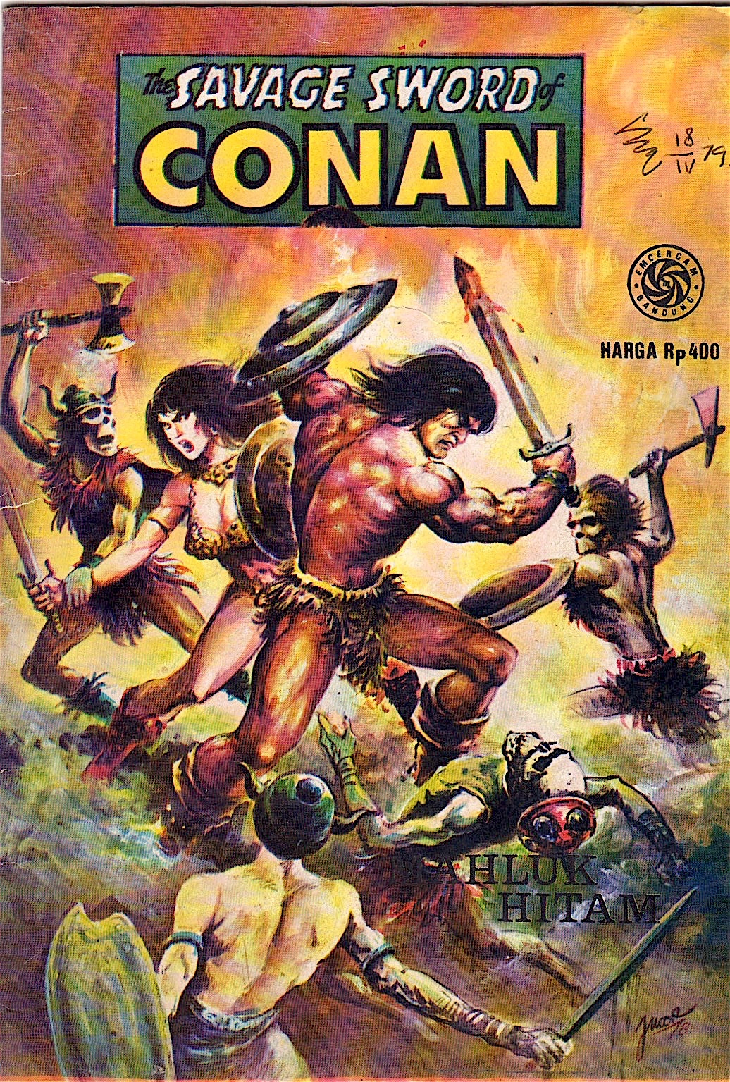 Crom Andrew Smith Regular 5 Pockets Hitam 38 Indonesia The Savage Sword Of Conan Mahluk