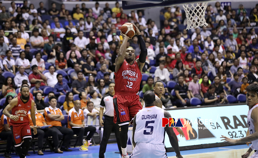 Justin Brownlee hit a game-high 38 points to help Ginebra beat Meralco