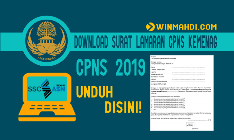 Format Surat Lamaran CPNS Kemenag 2019
