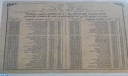 الذكرى 63 لانتفاضة آيت بعمران ، علامة فارقة في مسيرة استكمال وحدة الأراضي