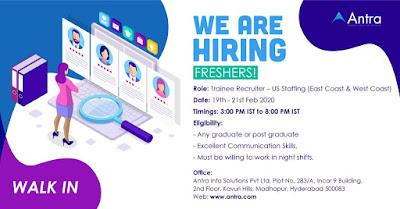 Freshers jobs 19th Feb 2020
