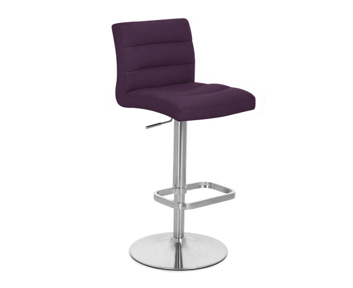 Zuri Furniture Purple Lush Adjustable Height Swivel Armless Bar Stool