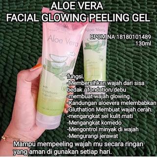 Review Aloe Vera Facial Glowing Peeling Gel dari SYB Membuat Wajah Menjadi Cerah dan Glowing Sepanjang Saat
