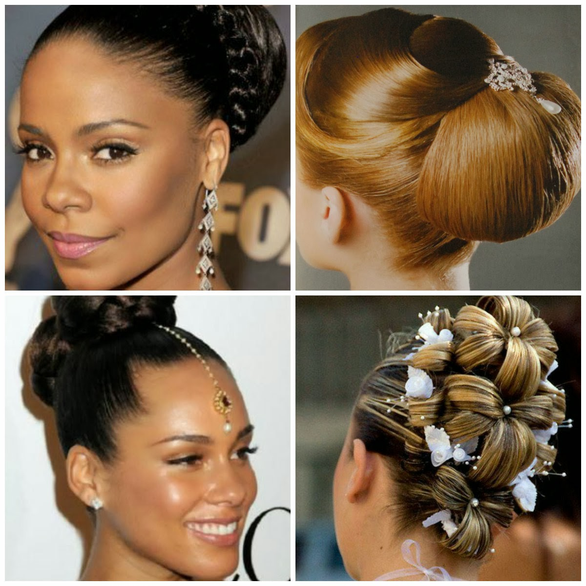 Alicia Keys Updo Hairstyles