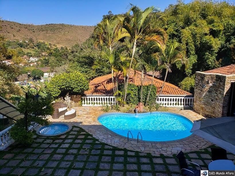 Piscina da pousada Arcadia Mineira - pousada em Ouro Preto