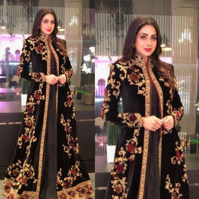 Sridevi in Rohit Bal for Russian Premier of Mom