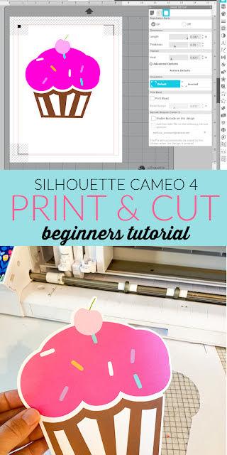 cameo 4, print and cut, silhouette studio v4, beginner tutorial, registration marks