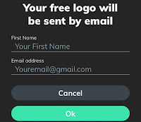 Your logo will be sent by email