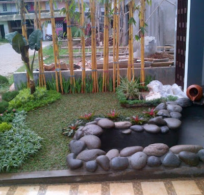 Tukang kolam ikan | kolam batu kali - SuryaTaman