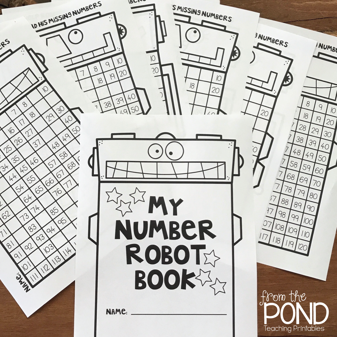 Workbooks visual discrimination worksheets : Robot 120 Chart Worksheets | From the Pond