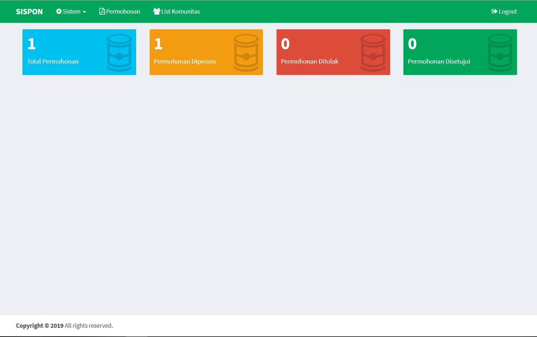 sistem informasi permohonan sponsorship dengan codeigniter