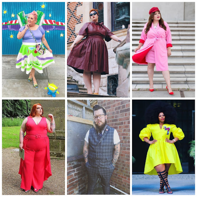 A selection of some of my favourite plus size outfits on the internet