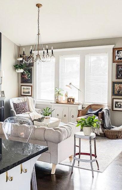 pop of color in living room