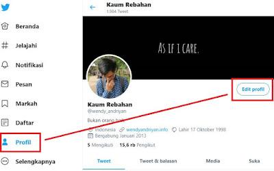 Membuat Backlink Pada Akun Profile Twitter