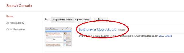 cara submit sitemap atau peta situs blog ke google webmaster tools
