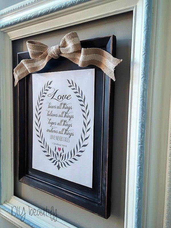 Free Love printable to mount and display at DIY beautify