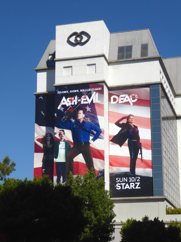 Giant Ash vs Evil Dead season 2 billboard