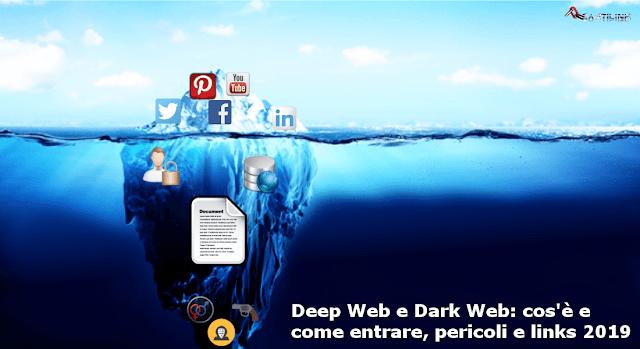 Deep Web, Dark Web, web sommerso, web oscuro, darknet, links, 2019, Tor,