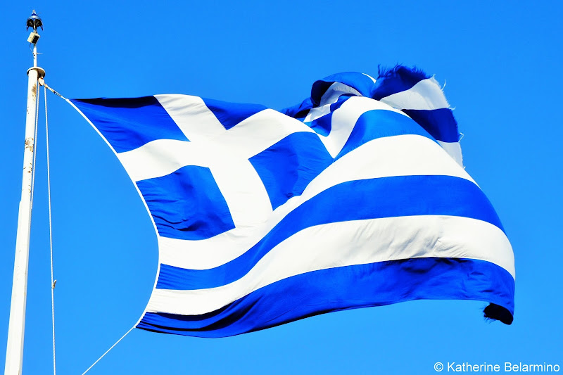 Greek Flag One Day in Athens