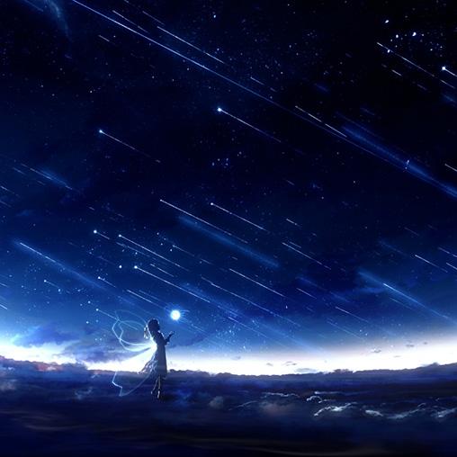 Girl Under The Stars Wallpaper Engine