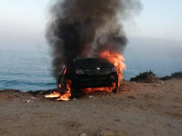 تيزنيت..ايقاف شخص قام بإحراق سيارة خاصة بآكلو