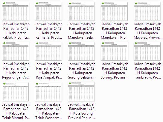 Download Jadwal Imsakiyah Ramadhan 1442 H Kabupaten/Kota se Provinsi Papua Barat