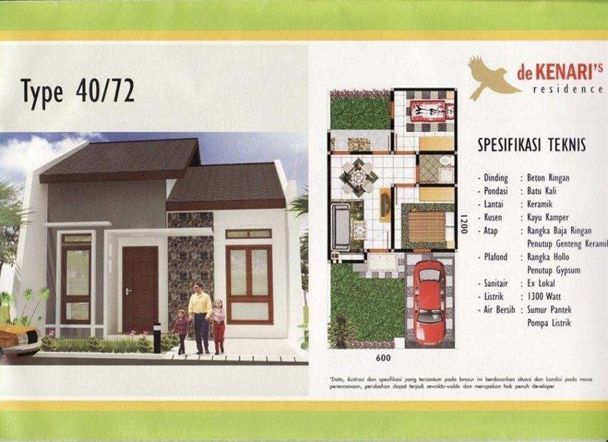 Desain Denah Rumah Minimalis Type 40  model denah rumah type 40 tampak bagus modelrumahnya