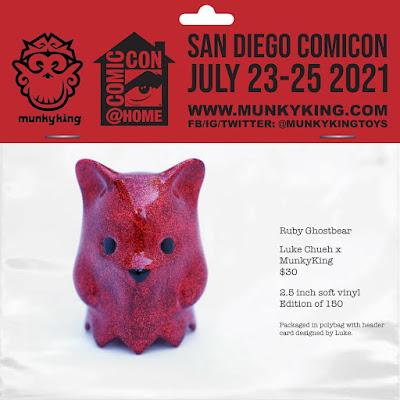 San Diego Comic-Con 2021 Exclusive Ruby Ghostbear Vinyl Figure by Luke Chueh x Munky King