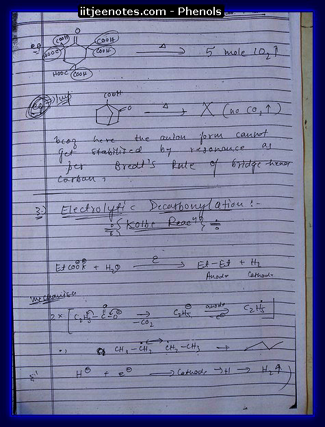Phenol Notes IITJEE 8