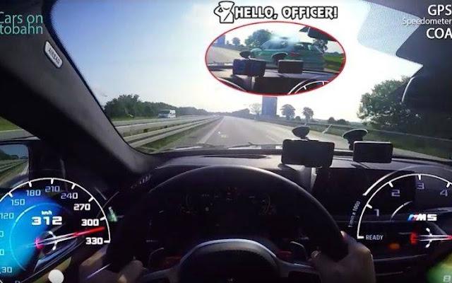 Προσπερνώντας περιπολικό με 310 χλμ σε γερμανικό αυτοκινητόδρομο – Δείτε το εντυπωσιακό βίντεο