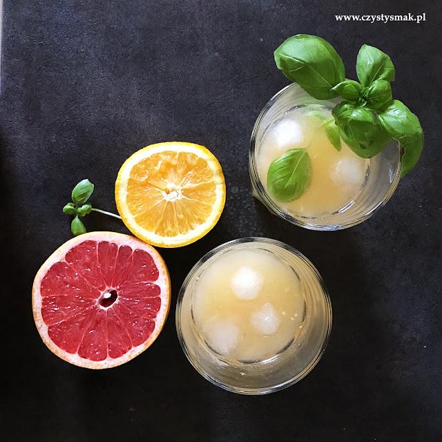 Napój cytrusowy z aromatem bazylii