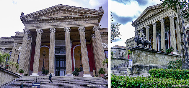 Fachada do Teatro Massimo de Palermo