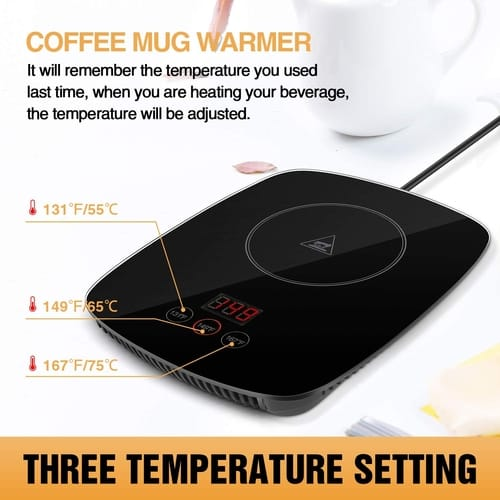 YEOSEN Coffee Cup Warmer with Three Temperature Setting