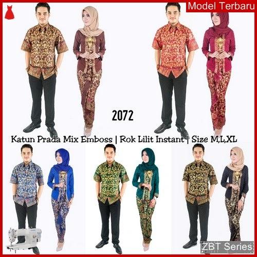 ZBT04409 Kebaya Batik Couple Prada 2072 Hijab BMGShop