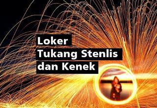 Loker Tukang Stenlis dan Kenek di Toko Mentari Jaya