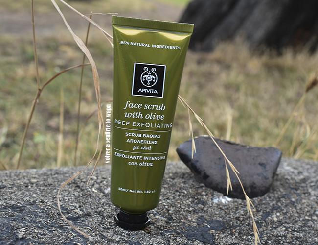 Exfoliante Facial Express Beauty Olive de Apivita