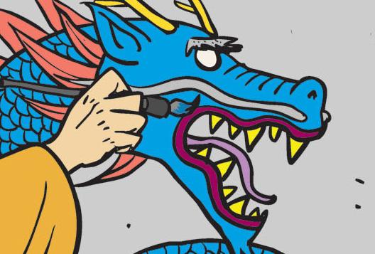 Ba cha con (bộ mới) phần 79: Vẽ mắt cho rồng