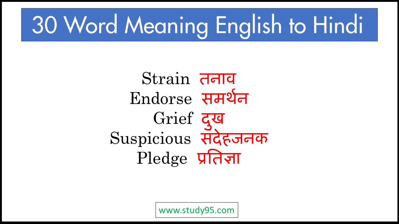 Word Meaning English to Hindi