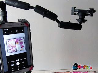 supporto con smartphone per foto dall'alto