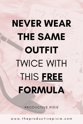 Never Wear the Same Outfit Twice With This Free Formula