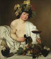Michelangelo Merisi da Caravaggio's Bacchus (c.1598), depicts the god of wine and love in Roman Mythology