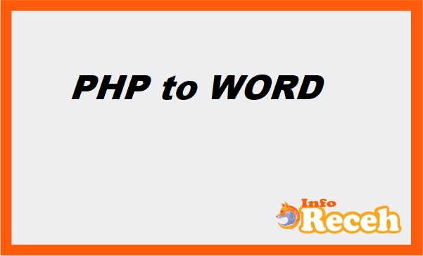 enter php in word