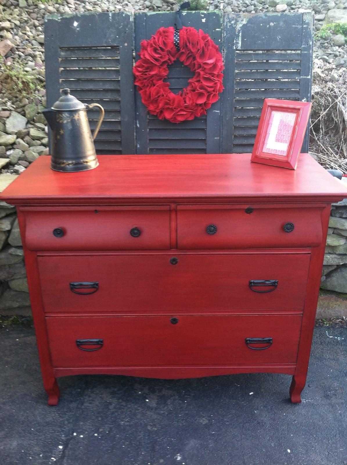 Antique Dresser Makeover From Drab to Fab  Meet Red Hot Rhetta