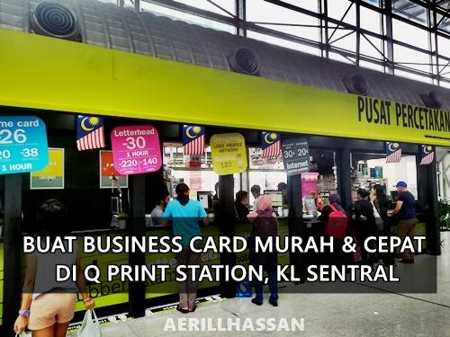 Buat Business Card Murah & Cepat di Q Print, KL Sentral, Kuala Lumpur