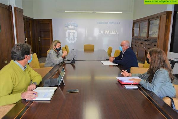El Cabildo y el  Gobierno  canario acuerdan realizar un diagnóstico de las  redes de riego de La Palma para priorizar las inversiones