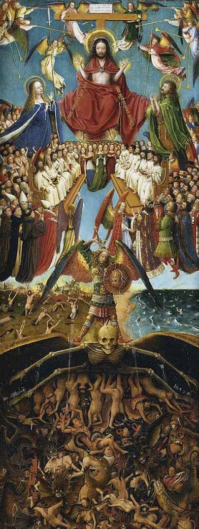 Deve haver um Juízo Final para que seja feita toda a Justiça que não foi feita pelos homens, Jan van Eyck  (1390 — 1441) Metropolitan Museum of Art, New York