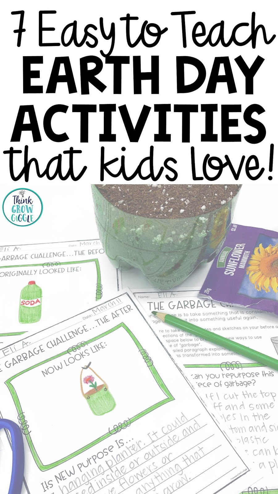 7 Easy to Teach Earth Day Activities that Kids Love - Think Grow Giggle [ 1600 x 900 Pixel ]
