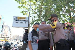 "Operasi Yustisi, Polres Pelabuhan Imbau Warga di Makassar Mall ""Ayo Pakai Masker"""