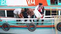 Dukung Budaya Batak, Dinas Perikanan SUMUT Tabur Ikan ke Danau Toba