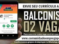 BALCONISTA, 02 VAGAS PARA LOJA DE PEÇAS AUTOMOTIVAS EM AFOGADOS
